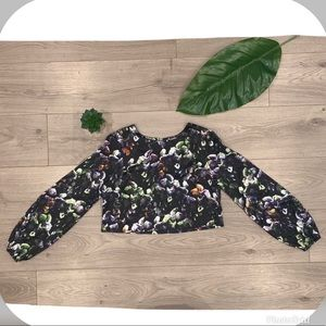 Anthropologie Sam & Lavi Floral Crop Top XS